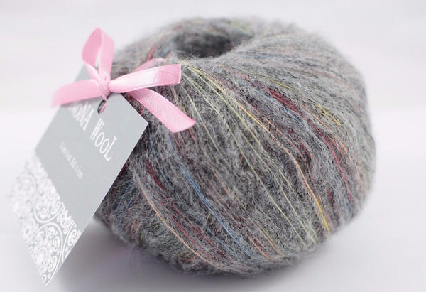 50g NoNA WooL Alpaca Grey Cloudlet Strickwolle Ice Yarns - Hungariana Garn und Strickwolle Online Shop