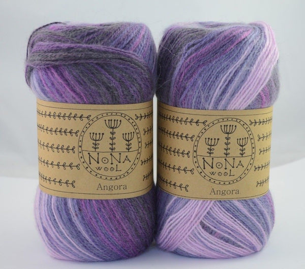100g NoNA WooL Angora Amaryllis Purple Strickwolle Ice Yarns - Hungariana Garn und Strickwolle Online Shop
