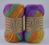 100g NoNA WooL Angora Holiday Rainbow Strickwolle Ice Yarns - Hungariana Garn und Strickwolle Online Shop