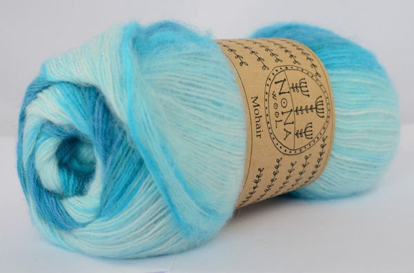 100g NoNA WooL Angora Mohair Belize Aqua Strickwolle Ice Yarns - Hungariana Garn und Strickwolle Online Shop