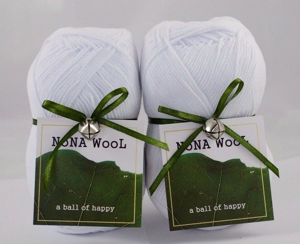 100g NoNA WooL Cotton Weiß 100% Baumwolle Strickwolle Ice Yarns - Hungariana Garn und Strickwolle Online Shop