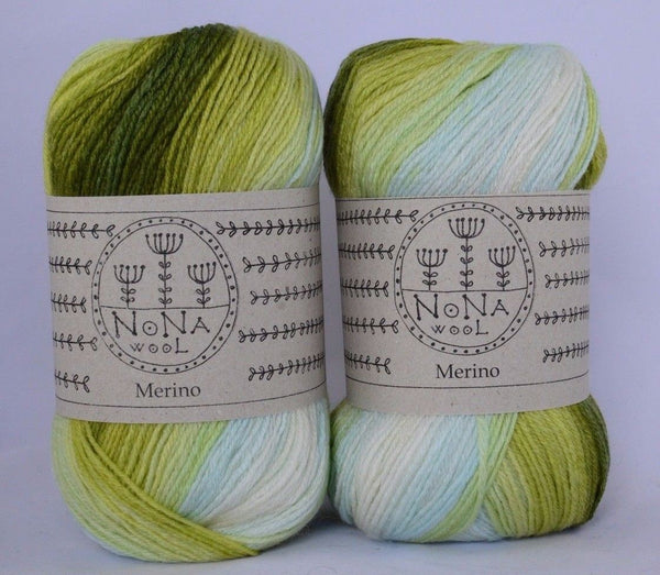 100g NoNA WooL Merino Spectra Coast Strickwolle Ice Yarns - Hungariana Garn und Strickwolle Online Shop