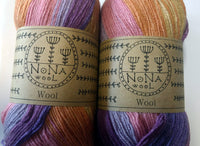 100g NoNA WooL Merino Spectra Happiness Farbverlaufsgarn Strickwolle Ice Yarns - Hungariana Garn und Strickwolle Online Shop