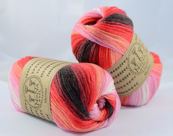 100g NoNA WooL Merino Spectra Red Velvet Cake Strickwolle Ice Yarns - Hungariana Garn und Strickwolle Online Shop