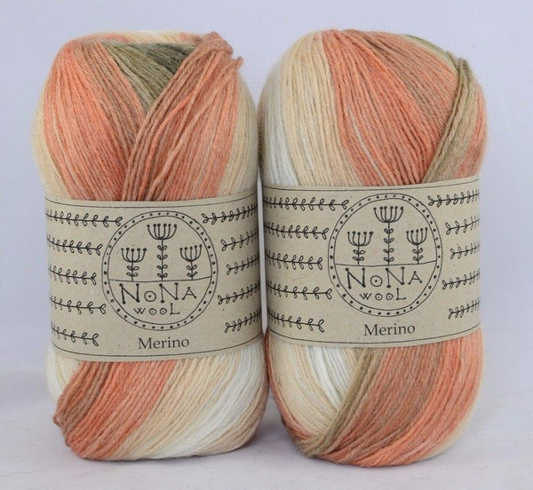 100g NoNA WooL Merino Spectra Sienna Lights Strickwolle Ice Yarns - Hungariana Garn und Strickwolle Online Shop