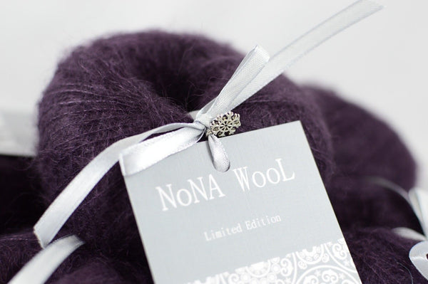25g NoNA WooL Mohair Lace Mulberry Limited Edition Strickwolle - Fest Keks Lebkuchen & Keks für jede Feier