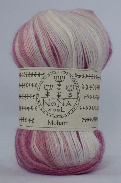 100g NoNA WooL Mohair Spectra Raspberry Ripple Strickwolle Ice Yarns - Hungariana Garn und Strickwolle Online Shop