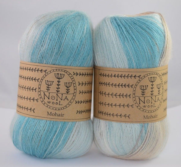 100g NoNA WooL Mohair Türkis Strickwolle Ice Yarns - Hungariana Garn und Strickwolle Online Shop