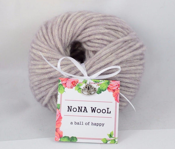 50g NoNA WooL Natur Wool Chunky Rose Water 100% Wolle Limited edition Strickwolle - Fest Keks Lebkuchen & Keks für jede Feier