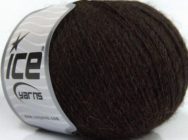 50g Peru Alpaca Fine Dark Brown Ice Yarns Strickwolle Ice Yarns - Hungariana Garn und Strickwolle Online Shop