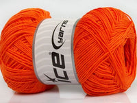 Wollpaket Pure Cotton Fine Orange Ice Yarns 3x100g Strickwolle - Fest Keks Lebkuchen & Keks für jede Feier