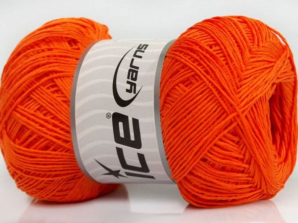 100g Pure Cotton Fine Orange Ice Yarns Strickwolle Ice Yarns - Hungariana Garn und Strickwolle Online Shop