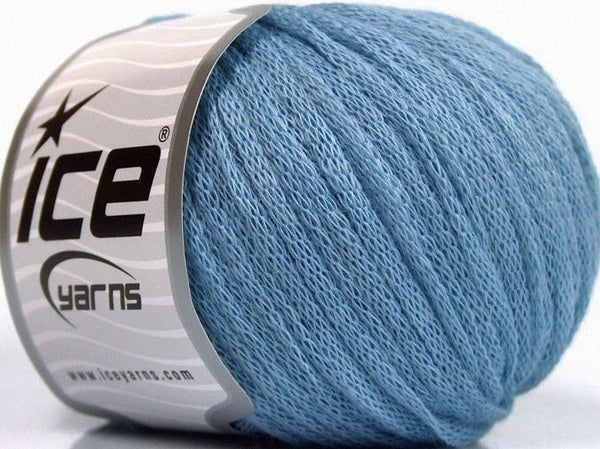 50g Ribbon Wool Light Blue Ice Yarns Strickwolle - Fest Keks Lebkuchen & Keks für jede Feier