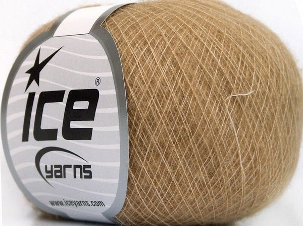 30g Royal Baby Alpaca Fingering Light Brown Ice Yarns Hell Braun Strickwolle - Fest Keks Lebkuchen & Keks für jede Feier