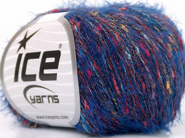 50g Sale Eyelash Blend Rainbow Blue Ice Yarns Strickwolle Ice Yarns - Hungariana Garn und Strickwolle Online Shop