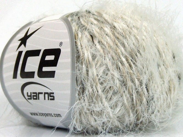 50g Sale Eyelash White Grey Ice Yarns Strickwolle Ice Yarns - Hungariana Garn und Strickwolle Online Shop