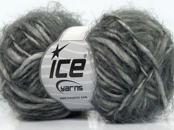 50g Sale Mohair-Wool Blend Grey Ice Yarns Grau Strickwolle Ice Yarns - Hungariana Garn und Strickwolle Online Shop