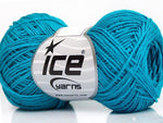 50g Sale Summer Turquoise Linen Ice Yarns Turkis Strickwolle Ice Yarns - Hungariana Garn und Strickwolle Online Shop