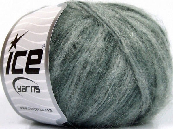 50g Sale Winter Grey Shades Mohair Yarns Grau Strickwolle Ice Yarns - Hungariana Garn und Strickwolle Online Shop