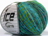 30g Sale Winter Turquoise Green Blue Ice Yarns Strickwolle Ice Yarns - Hungariana Garn und Strickwolle Online Shop