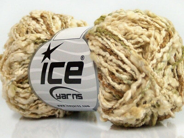 Seville Cotton Cream Green Brown Ice Yarns 40349