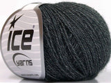25g Silk Merino Dark Grey Ice Yarns Seide Strickwolle Ice Yarns - Hungariana Garn und Strickwolle Online Shop