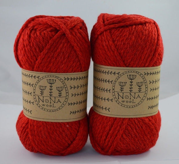 200g Stricken NoNA WooL Classic Red Rot Strickwolle Ice Yarns - Hungariana Garn und Strickwolle Online Shop