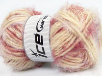 100g Techno Dumbo Lilac Cream Burgundy Ice Yarns Strickwolle Ice Yarns - Hungariana Garn und Strickwolle Online Shop