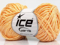 Viscose Ribbon Shine Light Orange Ice Yarns