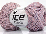 Viscose Ribbon Shine Pink Lilac Light Blue Ice Yarns