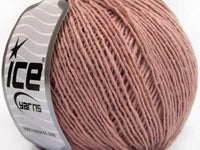 Wool Cord Light Rose Pink Ice Yarns
