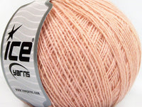 Wool Cord Sport Baby Pink Ice Yarns