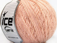 Wool Cord Sport Light Pink Ice Yarns 58857