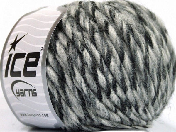 Wool Cord Superbulky Grey Shades Black Ice Yarns