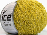 Wool Cotton Boucle Olive Green Ice Yarns