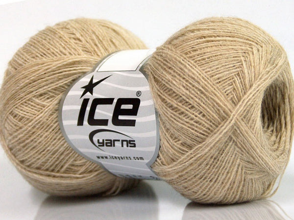 Wool Double Fine Beige Ice Yarns