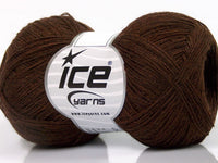 Wool Double Fine Brown Ice yarns