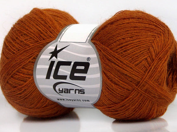 50g Wool Double Fine Dark Orange Ice Yarns Strickwolle - Fest Keks Lebkuchen & Keks für jede Feier