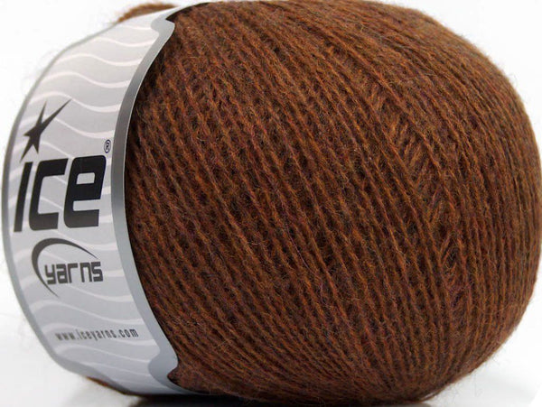 Wool Fine 30 Brown Melange Ice Yarns