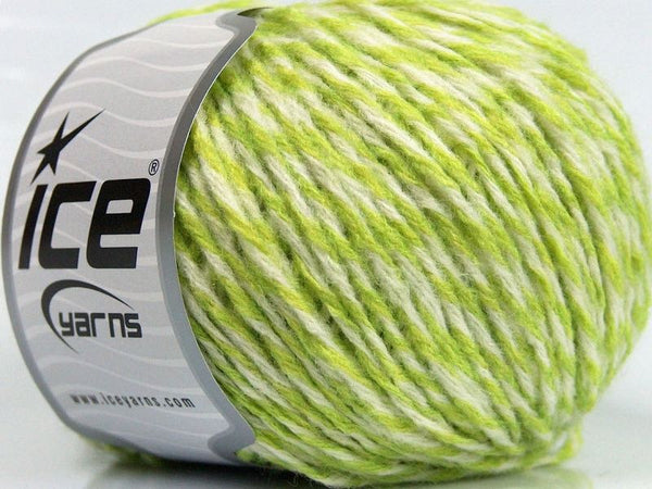 Wool Worsted 30 White Green Ice yarns