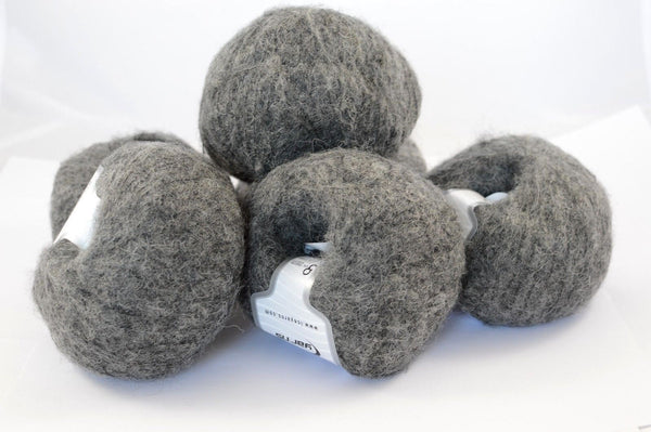 6x30g Merino Superfine Dark Grey Ice Yarns Dunkel Grau