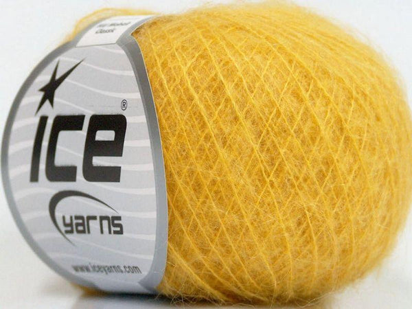 25g KID MOHAIR CLASSIC Gelb / Yellow Ice Yarns Strickwolle Ice Yarns - Hungariana Garn und Strickwolle Online Shop