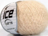30g Kid Mohair Fine Dark Cream Ice yarns Strickwolle Ice Yarns - Hungariana Garn und Strickwolle Online Shop