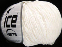 50g Sale Summer White Ice Yarns Strickwolle Ice Yarns - Hungariana Garn und Strickwolle Online Shop