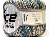 50g Onice Viscose Blue Cream Ice Yarns Strickwolle Ice Yarns - Hungariana Garn und Strickwolle Online Shop