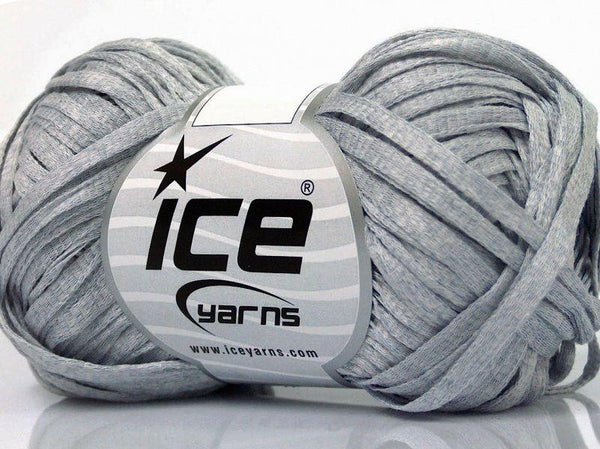 50g Bändchengarn Summer Light Grey Ice Yarns Strickwolle Ice Yarns - Hungariana Garn und Strickwolle Online Shop