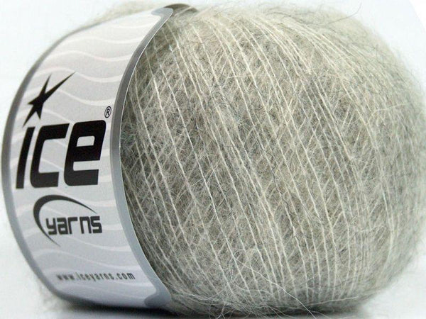 25g Deluxe Kid Mohair Classic Light Grey Ice Yarns Hell Grau Strickwolle Ice Yarns - Hungariana Garn und Strickwolle Online Shop