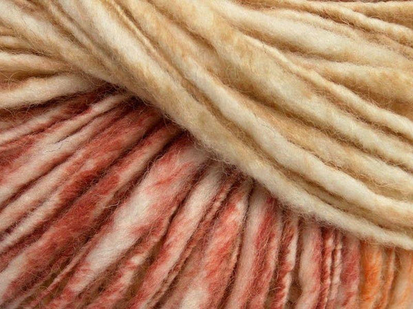 50g Fjord Wool Color Orange Olive Green Cream Burgundy Ice yarns Strickwolle Ice Yarns - Hungariana Garn und Strickwolle Online Shop