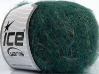 30g Alpaca Linen Superfine Dark Green Melange Ice Yarns Strickwolle Ice Yarns - Hungariana Garn und Strickwolle Online Shop
