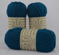 100g NoNa WooL Bamboo  Zaffre Teal Strickwolle Ice Yarns - Hungariana Garn und Strickwolle Online Shop